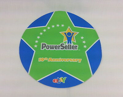 Mouse Pad eBay Powerseller Chicago 2008 10th Anniversary Thin NEW Green & Blue