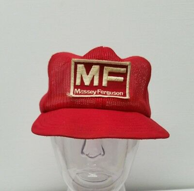 Vintage Massey Ferguson Patch All Mesh Snapback Louisville MFG Co Made In USA