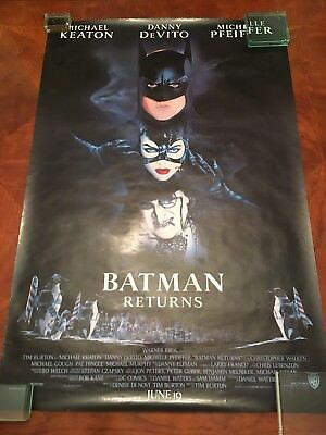 Original 1992 Batman Returns DS Rolled One Sheet
