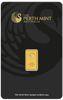 2 Perth Mint Gold 1g Minted Bullion Bar (Certicard) Consecutive Numbers