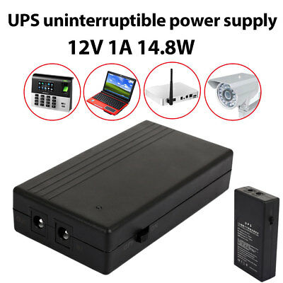 14.8W 12V 1A Mini UPS Battery Backup Security Standby Power Power Supply Power