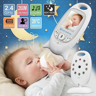 "2.4GHz 2.0"" Digital Wireless Baby Monitor Audio Video Night Vision Camera EU Aʌ"