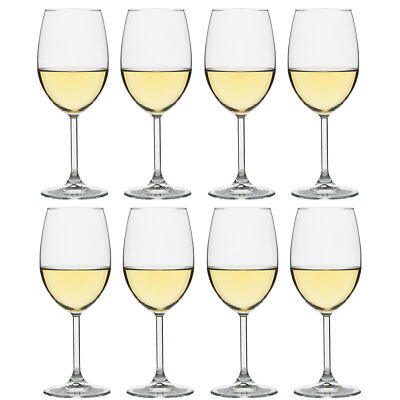 NEW Ecology Otto White Wine Glass Pay For 6 Get 8 Set 360ml