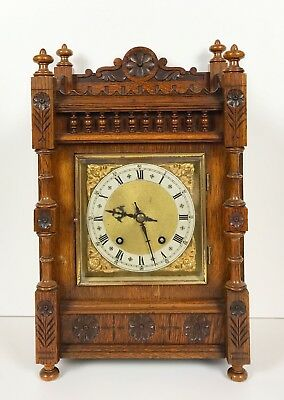 Winterhalder & Hofmeier Oak Cased Ting Tang Mantle Clock Superb