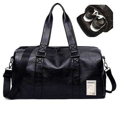 Bag Gym Leather Travel Luggage Men Overnight Duffel Genuine Weekender Outdoor