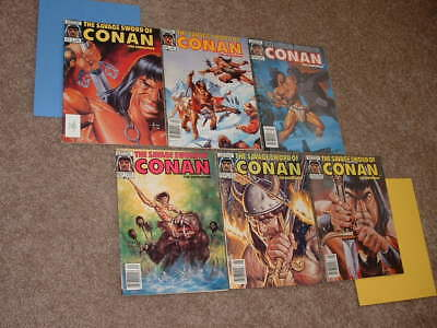 Lot of 6 Savage Sword of Conan 130 132 134 135 137 139 VG+ to VF Free Shipping