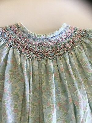 DRESS- TODDLER - HAND MADE AND HAND SMOCKED - 1940/50's