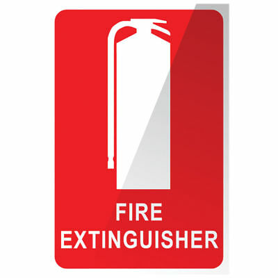 8x MEGAFire FIRE EXTINGUISHER LOCATION SIGN 150x225mm *Australian Brand