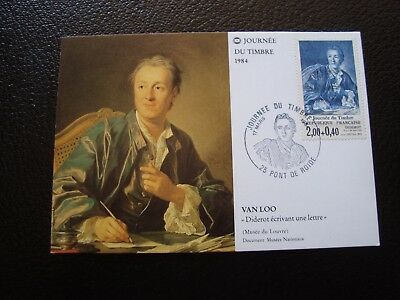 FRANCE - card 1st day 17/3/1984 (day du timbre) (B12) french (A)
