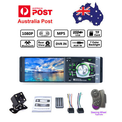 """4.1"""" Single 1DIN Car MP5 MP3 Player Bluetooth Stereo Audio Radio+Rearview Camera"""