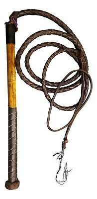 RedHide Stock Whip Stockwhip, Genuine Leather Stock Whip Dark Brown