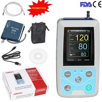 FDA CONTEC ABPM50 Ambulatory Blood Pressure Monitor Upper Arm NIBP,US