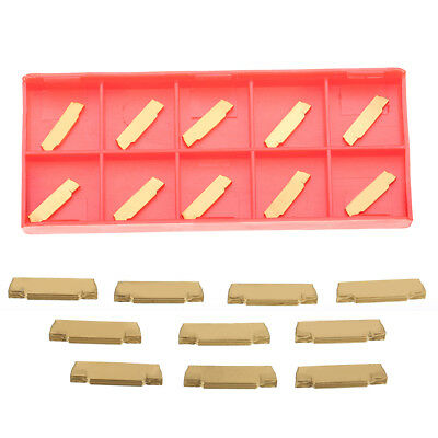 10pcs MGMN200-G 2mm Coated Carbide Inserts for MGEHR/MGIVR Grooving Tool US