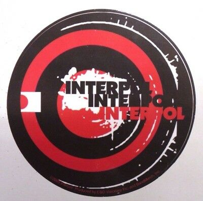 Interpol vinyl sticker decal music rock indie band merch red black logo 10cm