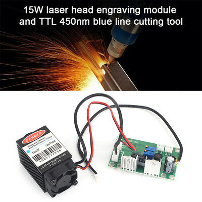 15W Laser Head Engraving Module Diode Marking Wood Cutting Tool For Engraver AU