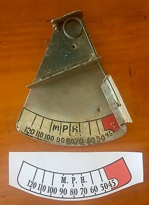 Tiger Moth Replacement Sticker for a Manual External Air Speed Indicator DH82A