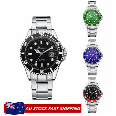 Automatic Military Mechanical Stainless Steel Dial Bezel Luxury Watch Wristwatch