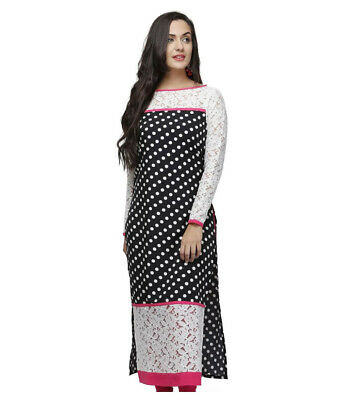 Indian Bollywood Pakistani Designer Dress Straight Women Kurti Free Shipping