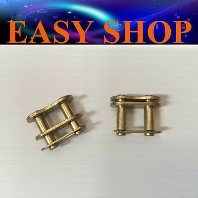 2X Gold 420 Master Joint Chain Links 90cc 110cc 125cc ATV QUAD DIRT BIKE PIT PRO