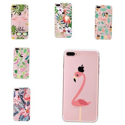Pink Flamingo Soft Silicone Case Phone Cover For Apple iPhone 7 7Plus