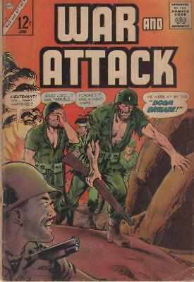 War and Attack 54 June 1966 (Charlton Comics) Good/Very Good condition
