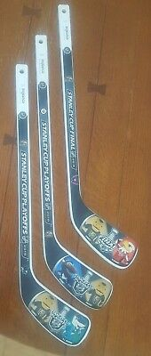 VEGAS GOLDEN KNIGHTS VGK MINI WOOD HOCKEY STICKS FROM ROUND 2,3 and STANLEY CUP