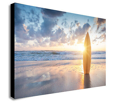 Surfing Sunset Water Beach Sport Canvas Wall Art Abstract Picture SF6 MATAGA .