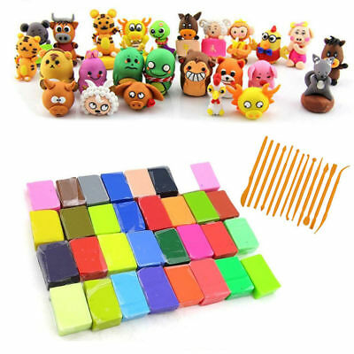 32 /48 Colors +14 Tools Kit Soft Polymer Clay Oven Fimo Clay Model Moulding Game