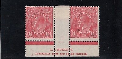 KGV 1.5d Red Die 2 SMW P14 Imprint Pair Mint - includes 4R55 (ST joined)