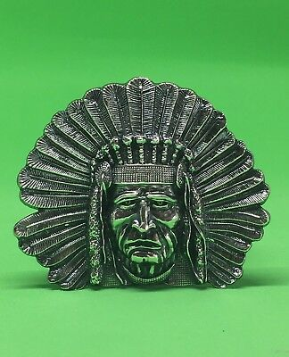 4.8 Oz Indian Chief Head - Hand Poured 999 Pure Silver Bullion.