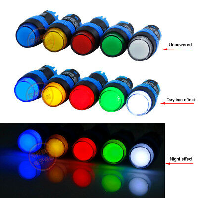 12mm LED Pilot Panel Indicator Signal Warning Light Lamp 6V 24V 220V 2 Terminal