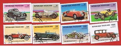 Togo #1249-1256 VF used  Classic Cars Free S/H