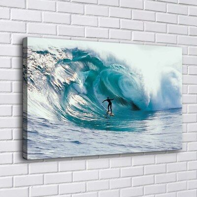 "12""x18""Surfing Speed Wave Sports Home Decor HD Canva Print Picture Wall Art"