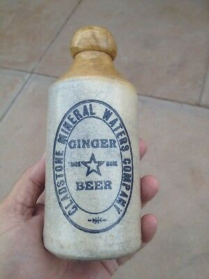 Gladstone mineral waters company star ginger beer bottle ( SOUTH AUSTRALIA )