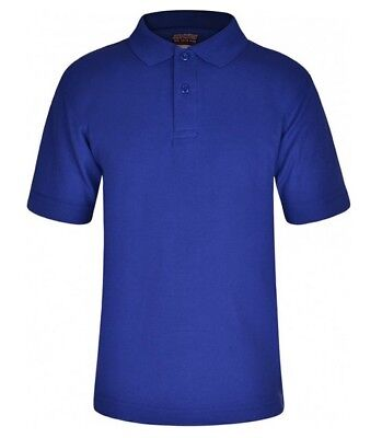 ROYAL BLUE Boys Girls Kids School Polo Shirt T-Shirt Uniform Sports P.E POS