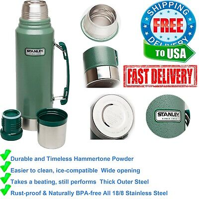 Stainless Steel Vacuum Flask Classic Travel Tea Thermos Hot Cold Bottle Stanley