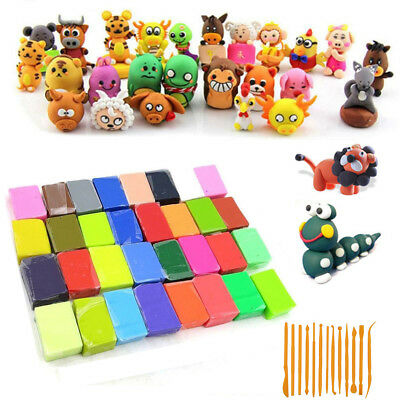32 /48 Colors Soft Polymer Clay Oven Fimo Moulding Birthday Children Day Party