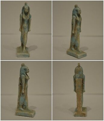 Ancient Egyptian Blue Statue of Cleopatra Circa 360-100 B.C