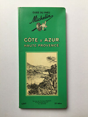 guide michelin cote d'azur 1966 22 °édition