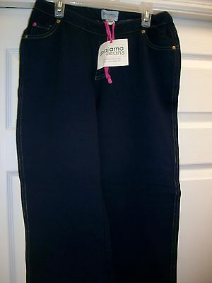 Pajama Jeans,  2 Pairs per Order, Sz: Small, Soft Cotton Blend-Dk Wash