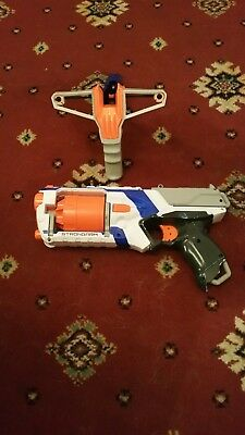 Joblot Of 2 Nerf Guns slingshot sling fire maverick strongarm