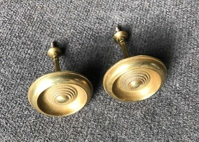 Pair Antique 19th Century Curtain Tie Backs Empire Victorian Late Federal