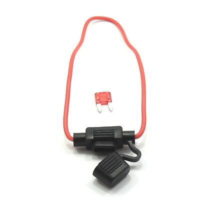 12V Mini Blade Waterproof Inline Fuse Holder with Fuse Amp by Choice Car Bike