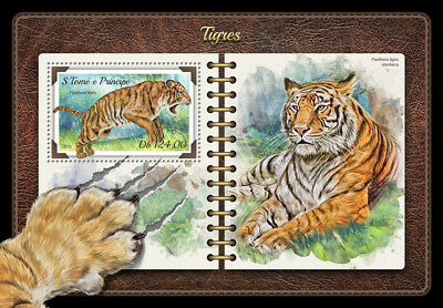 Z08 ST18201b Sao Tome and Principe 2018 Tigers MNH ** Postfrisch