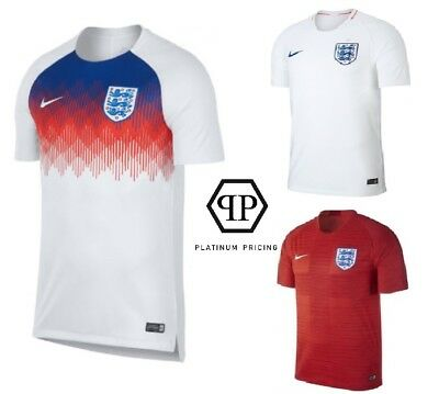 England 2018 Football World Cup Shirts - White - Red - Training - All Sizes