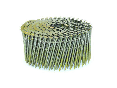 2 1/4″ x .099 Coil Nails Screw Shank (9,000) Blunt Diamond Point