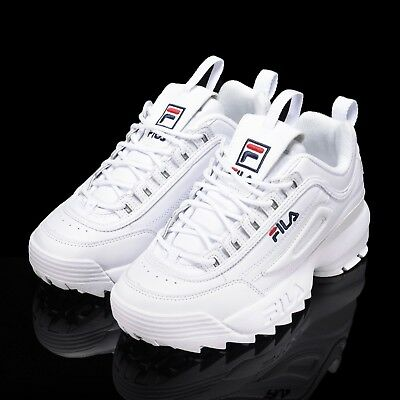3b3ee550f4 FILA Disruptor II 2 White Authentic Shoes Unisex Size US 4-11  FS1HTA1071X WWT