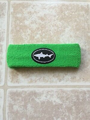 DOGFISH HEAD BEER BREWERY BREWING PROMO TERRY CLOTH HEADBAND SWEAT BAND GREEN