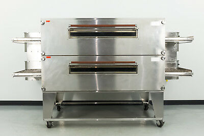 "Reconditioned XLT 3270 32"" Double Deck Gas Conveyor Pizza Oven"
