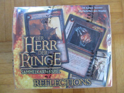 Herr der Ringe Refelctions – New Sealed Booster Display Box 24 Packs Lord Rings